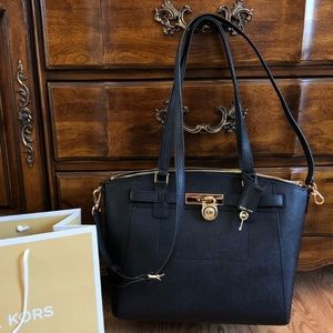 $378 Michael Kors Hamilton Handbag Bag MK Purse
